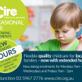 Cire Childrens Services Oaccsional Care inc. open day Facebook Advertisement