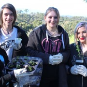 Image of VCAL students working in the YVCS Community Garden