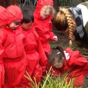 Image of the Bush Kinder kids planting trees