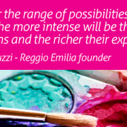 Image of a quote for the Reggio Emilia program