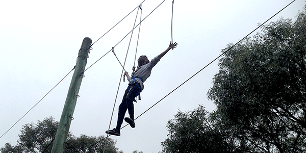 Cire Community School high-ropes excursion