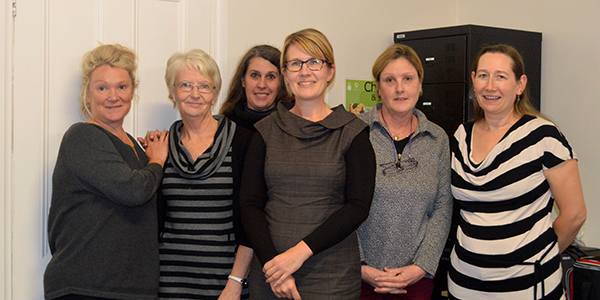 Image of aged care students with Linda - Newly General Manager