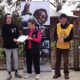 Image of a VCAL student receiving a certificate of appreciation for the Milking Cow and Goat project
