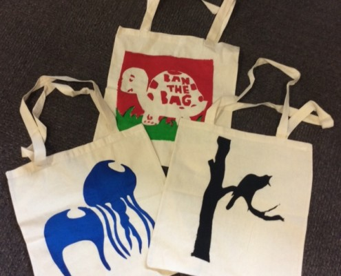 YVCS designed tote bags