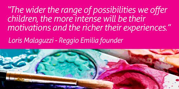 Image of a quote for the Reggio Emilia program