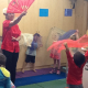 Kinder class enjoying dance