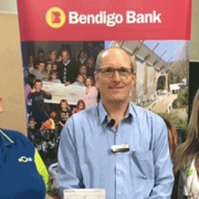 Lysa Smart, Geoff Vickers (Bendigo Bank Community Enterprise) and Amy Sheridan