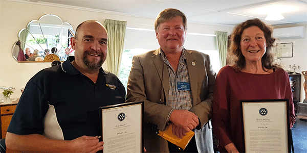Cire becoming one of the first organisational members of Wandin Rotary Club