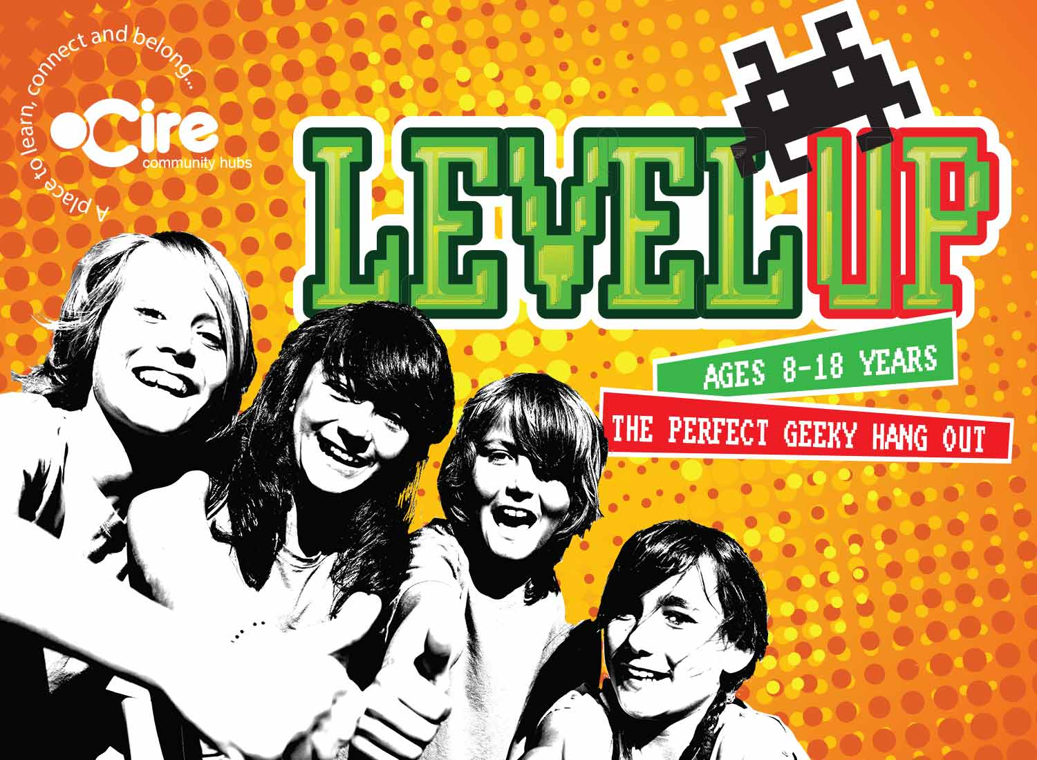 Level up - for young people aged 8-18 years