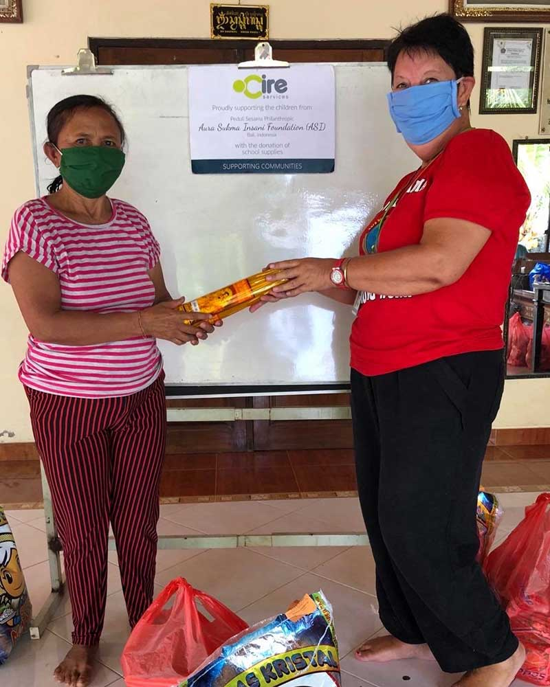 In an unexpected turn for the good, Cire is helping desperate families in northern Bali impacted by the coronavirus (C-19) pandemic