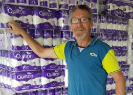 Toilet paper donation delivers much joy
