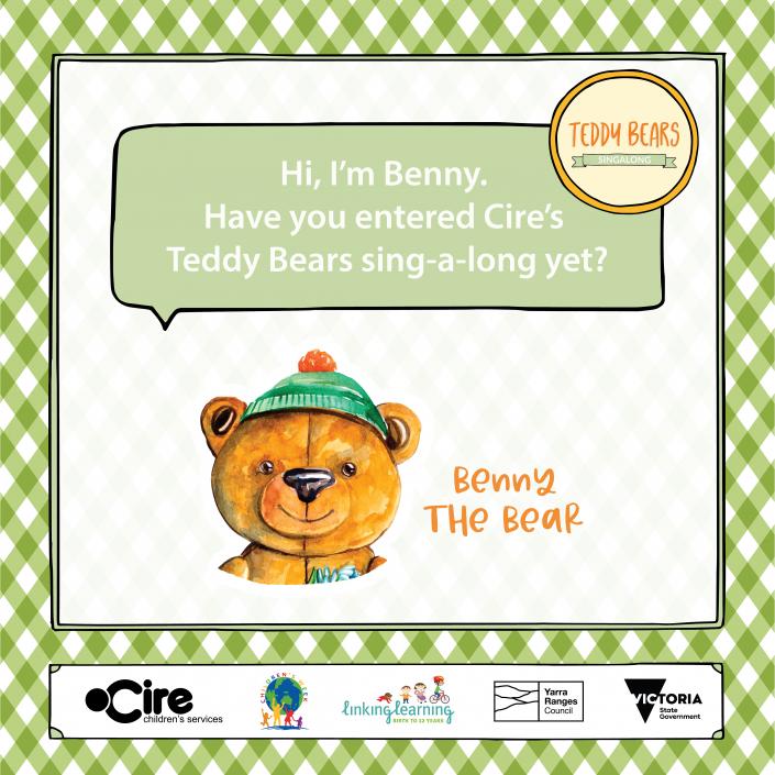 Teddy Bears Sing-A-Long Benny the bear tile 1080px x 1080px