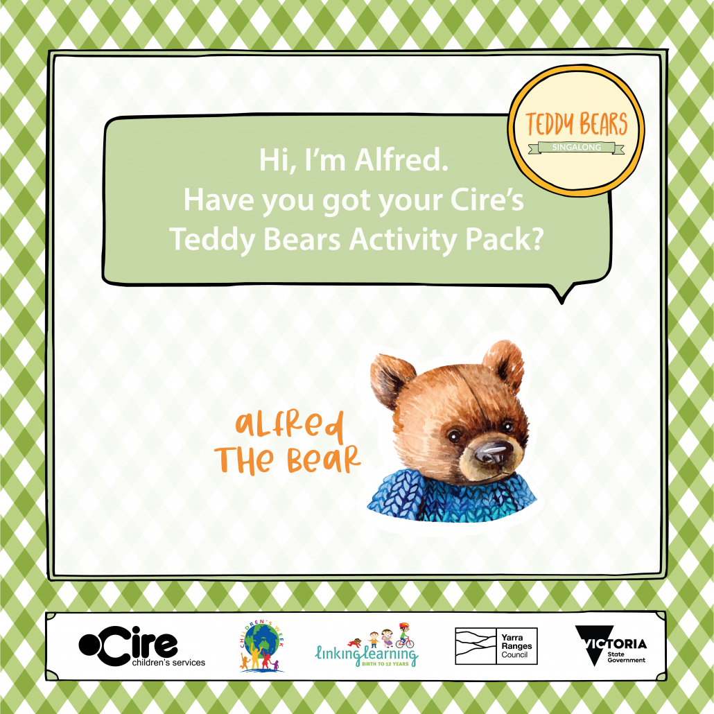 Teddy Bears Sing-A-Long Alfred the bear tile 1080px x 1080px