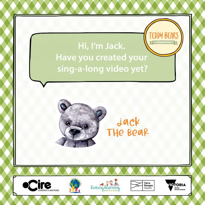 Teddy Bears Sing-A-Long Jack the bear tile 1080px x 1080px