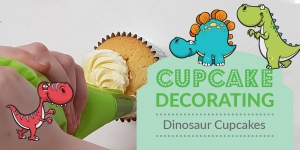 Dinosaurs Cupcake Decorations with Norma Rose