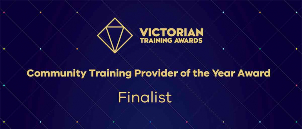 Cire Training in top 3 for Victorian award